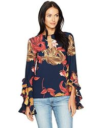 C/meo Collective - Gossamer Floral Print Long Sleeve Top - Lyst