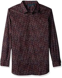 Perry Ellis - Big And Tall Tile Print Shirt - Lyst