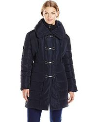 Jessica Simpson - Plus-size Mid-length Down Coat With Clasp Closure - Lyst