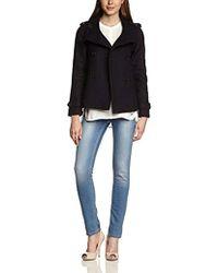GANT - E. High Collar Short Jacket Long Sleeve Coat - Lyst