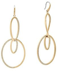 Michael Kors - S Brilliance Gold-tone Drop Earrings, One Size - Lyst