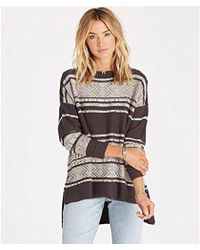 Billabong - Junior's Tidal Mirage High Low Hem Sweater - Lyst