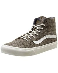 1d36b01180c Madewell Vans Reg  Sk8-Hi Slim High-Tops In Suede in Green - Lyst