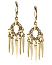 Sam Edelman - Pave Pronged Spike Drop Earrings - Lyst