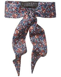 79b4efb2093 Laundry by Shelli Segal - Wildflower Necktie Scarf, Navy Multi, One Size -  Lyst