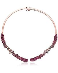 Betsey Johnson - S Pink Hinge Collar Necklace - Lyst