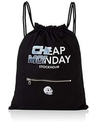 Cheap Monday - Unisex Adults' Rapid Gym Bag Future Canvas And Beach Tote Bag Black (black) - Lyst