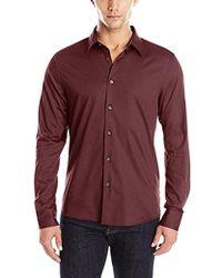 Kenneth Cole Reaction - Long Sleeve Dressy Shirt - Lyst