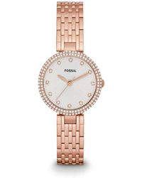 Fossil - Es3347 Olive Three Hand Stainless Steel Watch - Rose Gold-tone - Lyst