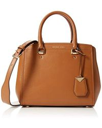 df7abf8d828 Michael Kors - Benning Medium Leather Satchel - Lyst