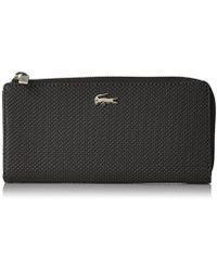 Lacoste - Chantaco Slim Zip Wallet - Lyst
