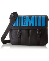 Love Moschino - Borsa Pebble Pu Nero, Sacs pour ordinateur portable homme, Multicolore (Black Pebble) - Lyst