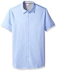 Calvin Klein - Textured Jacquard Coat Front Shirt - Lyst