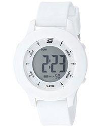 Skechers - Quartz Plastic And Rubber Casual Watch, Color:white (model: Sr6142) - Lyst