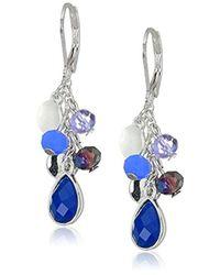 Nine West - Silver-tone Linear Drop Earrings - Lyst