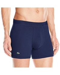fa0be7898a Lyst - Lacoste L.12.12 Modal Pique Boxer Brief in Blue for Men