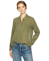 Lucky Brand - Lucky You Shirt In Dark Olive - Lyst