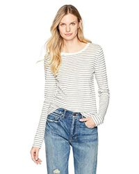 Vince - Double Pin Stripe Shirttail Long Sleeve - Lyst