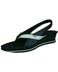 PUMA - Eva S Ankle Strap Leather Sandals - Lyst
