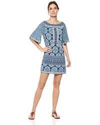 BCBGMAXAZRIA - Vintage Floral Tile Patchwork A-line Dress - Lyst