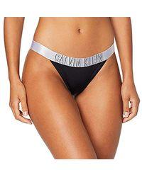 Calvin Klein Damen Brazilian Bikinihose ) - Schwarz