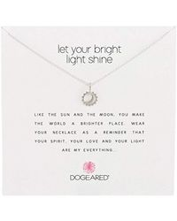 "Dogeared - Reminder Let Your Bright Light Shine Sun And Moon Pendant Necklace, 16.25"" - Lyst"