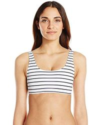 French Connection - Scoop Tank Bikini Top - Lyst