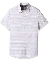 Kenneth Cole - Short Sleeve Horizontal Stripe Shirt - Lyst