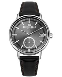 Ben Sherman Portobello Professional Quartz Watch With Stainless-steel Strap, Multi, 20 (model: Wb071gsm) - Metallic