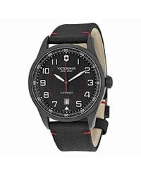 Victorinox - Airboss Mach 9 Analog Display Chronograph Automatic Watch, Silver Stainless Steel Band, 45mm - Lyst