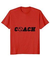 COACH - Soccer Ball T-shirt End Of Season Team Gift Tee Shirt - Lyst