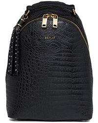 Replay - Fw3758.000.a0364, 's Backpack Handbag, Black, 11x34x24,5 Cm (b X H T) - Lyst