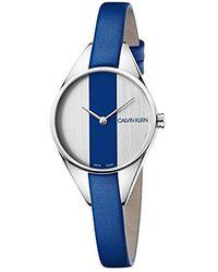 c174c93bfa0b Calvin Klein - Reloj Analógico para Mujer de Cuarzo con Correa en Cuero  K8P231V6 - Lyst