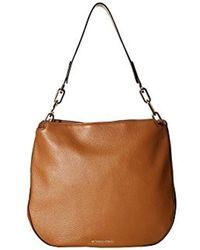3442f8e19 Michael Kors - Fulton Acorn Pebbled Leather Hobo Bag - Lyst