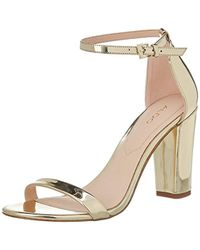 f371da3e85a ALDO  s Chelly Open Toe Sandals in Metallic - Lyst