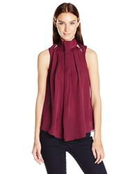 Guess - Sleeveless Kimmy Cut Out Pleated Top - Lyst