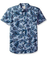 Lucky Brand - Short Sleeve Ballona Shirt - Lyst