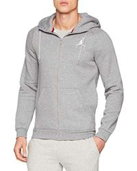 Nike - Jumpman Fleece Fz, Sweatshirt - Lyst