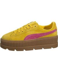 new product 42f16 cc941 S Fenty By Rihanna Tan Cleated Creeper 36626802 Trainers Shoes
