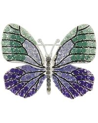 Napier - Multicolored Boxed Butterfly Pin - Lyst