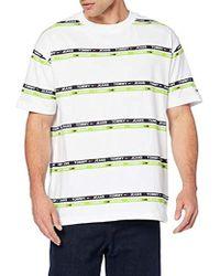 af0feae36ab402 Tommy Hilfiger - Tjm Signature Stripe Logo Tee T-Shirt Uomo - Lyst
