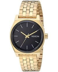 Nixon - 'medium Time Teller' Quartz Stainless Steel Casual Watch, Color:black (model: A11302226) - Lyst
