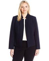 Nine West - Plus Size Stretch Crepe Notch Collar Jacket - Lyst