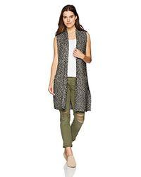 Kensie - Cotton Tweed Vest - Lyst