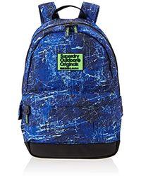 cc5e19007415 Topman Hype Blue Marble Backpack  in Blue for Men - Lyst