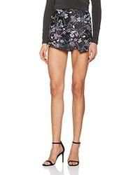 Miss Selfridge Jacquard Skort Shorts - Blue
