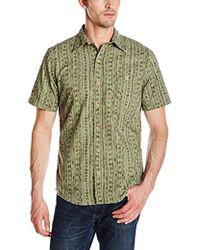 G.H.BASS - Short Sleeve Printed Button Down Shirt - Lyst