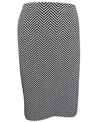 Kasper - Novelty Herringbone Slim Skirt - Lyst