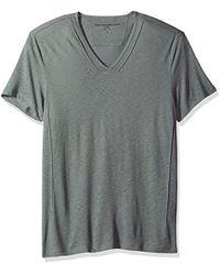 John Varvatos - Short Slleve Knit V-neck With Pintuck Details - Lyst