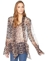 Equipment - Engineered Kaleidoscopic Leopard Chiffon Jacqueleen Top - Lyst